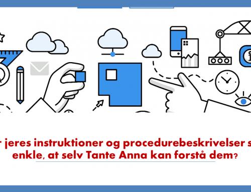Letforståelige instruktioner eller procedurebeskrivelser